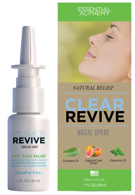 Clear Revive Allergy Sinus Relief Nasal Spray Natural