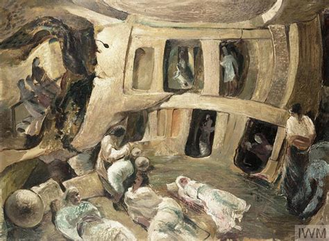 Malta: The Hypogeum : people of Paola sheltering during a