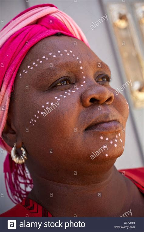 Black african woman in traditional tribal dress, Cape Town