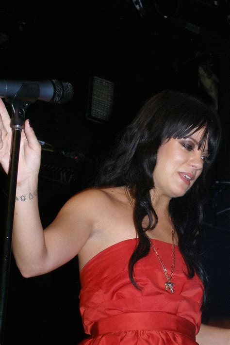 Photos Lily Allen at MySpace Secret Show at Bowery