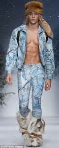 Moschino's men's collection sees shirtless models in