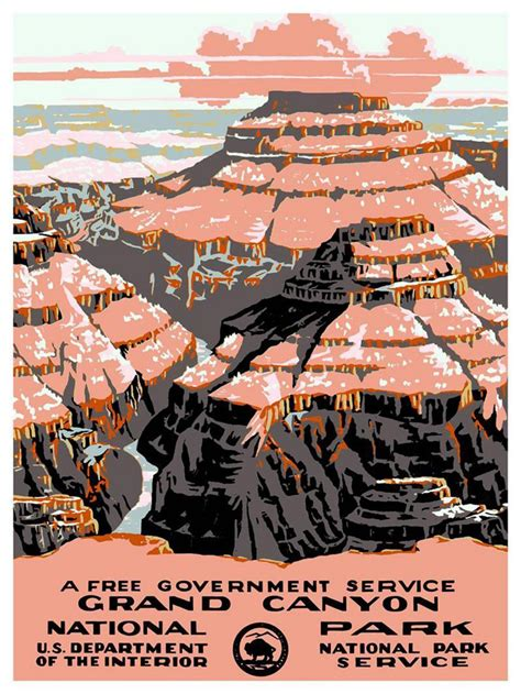 Grand Canyon Park vintage tourism poster art dated 1938