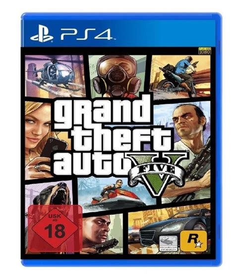Grand Theft Auto V (Game Cover PS4)   Game Cover