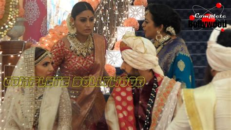On Location Of TV Serial 'Ishqbaaz' Anika Trying To Stop