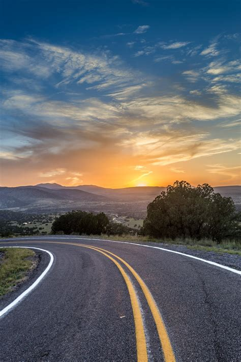 Sunset curve, Catron County, New Mexico - New Mexico is