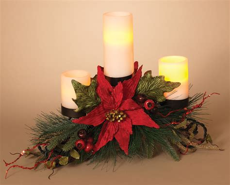 Christmas Candle Holders - Metal Triple Candle Holder