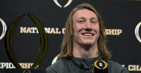 Trevor Lawrence is engaged after on-field proposal at