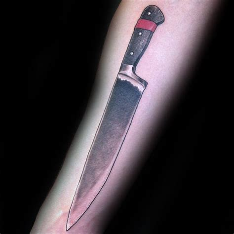 60 Chef Knife Tattoo Designs For Men - Cook Ink Ideas
