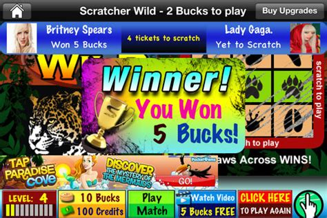 Scratchers - Free Instant Scratch Off Lucky Lottery