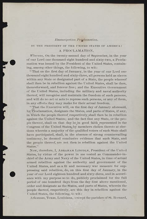 The first edition of Abraham Lincoln's final emancipation