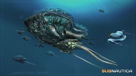 Subnautica Reefback Sounds - YouTube