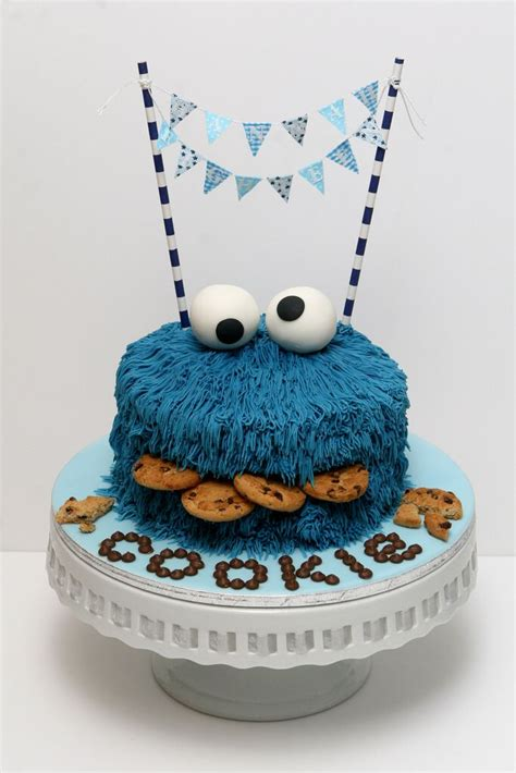 Cookie Monster Party ⚜ cake … in 2020   Monster kuchen