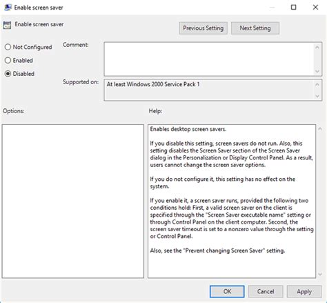 Disable Screensaver Windows 10   Password Recovery