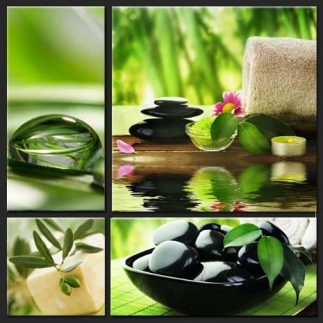 Collage of 4 Canvas Prints - SPA - Home-Photo-Deco